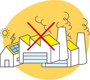環境にやさしいエコ発電!