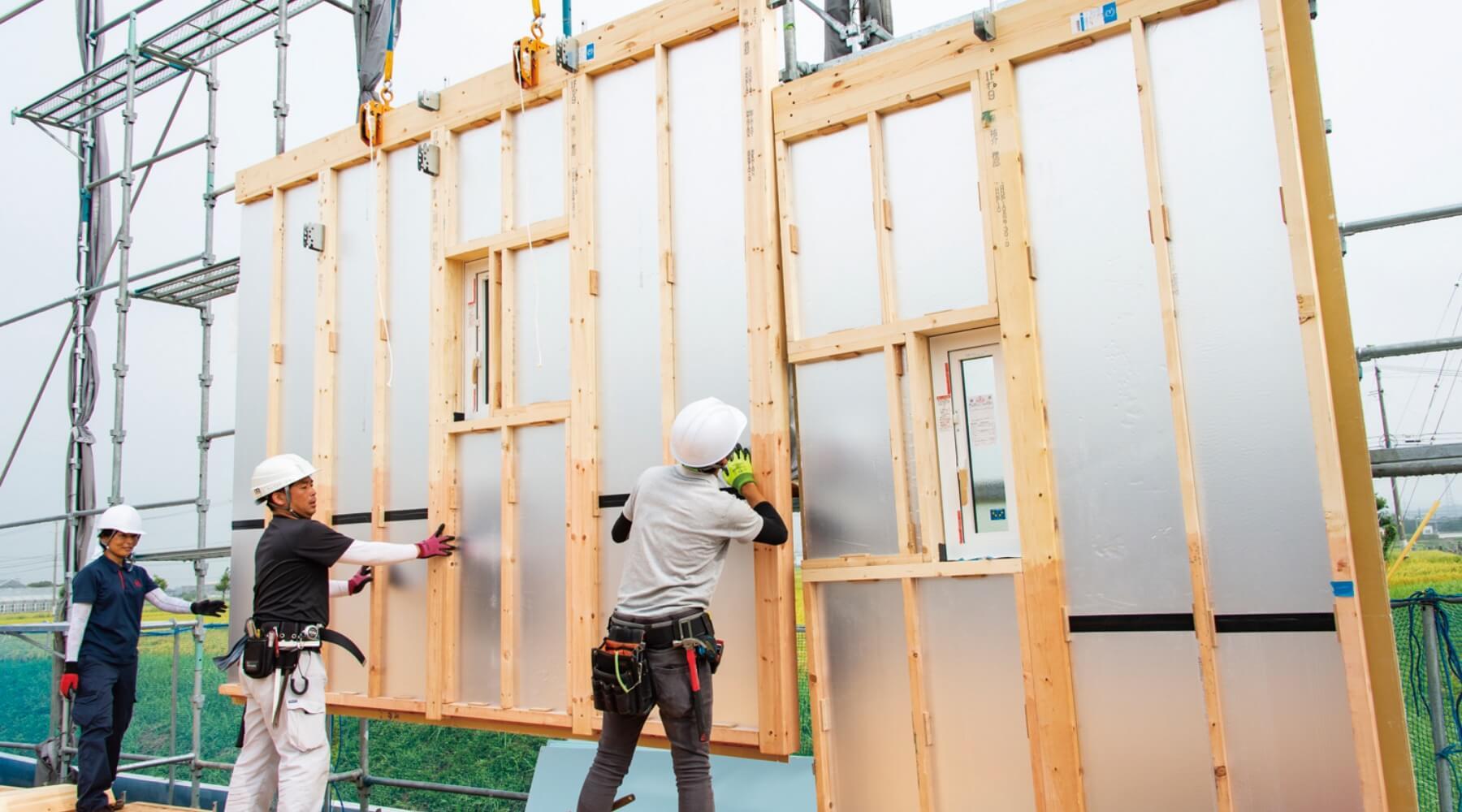 階壁面の施工